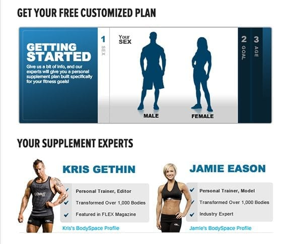 Bodybuilding.com's simple supplement finder leads shoppers to a good solution.