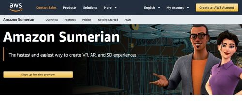 Amazon Sumerian, by Amazon Web Services.