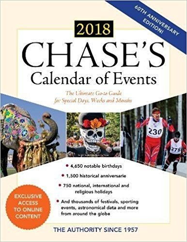 Chase's annual Calendar of Events provides time-related things to celebrate every week of the year.