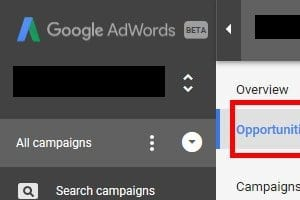 AdWords: Navigating the New 'Opportunities' Tab