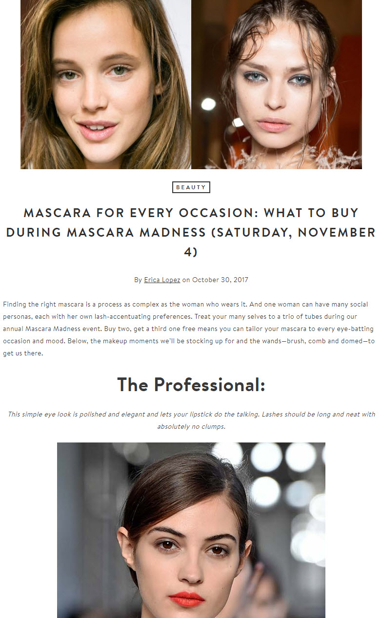 The Thread is a blog by Nordstrom. It features promotions plus relevant, useful information.
