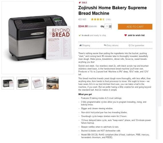 "King Arthur Flour gives this high-end bread maker a down-home nickname (""Zo"") and describes it in a next-door-neighbor voice."