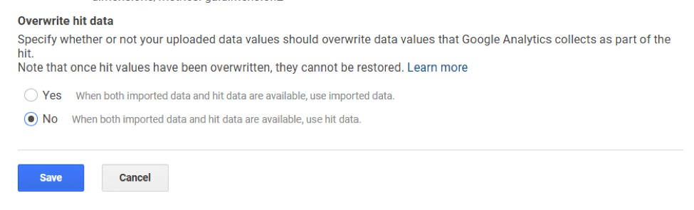 Select if you want to overwrite hit data.