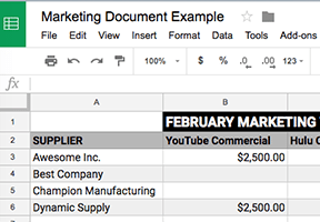 Create Google Docs from a Google Sheet