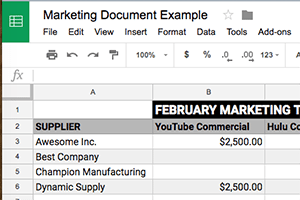 Create Google Docs from a Google Sheet