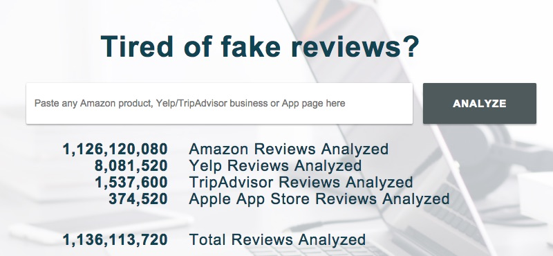 Fakespot is an example of a service that detects potential fake reviews.