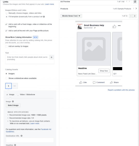 Creating Dynamic Ads on Facebook | Practical Ecommerce