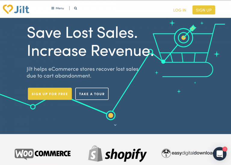 Jilt can help merchants recover abandoned cart. Its pricing is based on how many abandoned shoppers it engages.