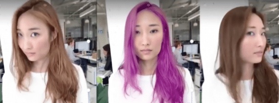 This application from ModiFace can show different hair colors digitally.
