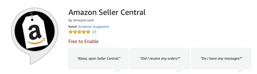 Alexa skill for Amazon Seller Central.