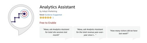Alexa skill for Analytics Assistant.