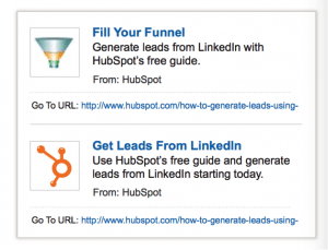 Example LinkedIn text ads