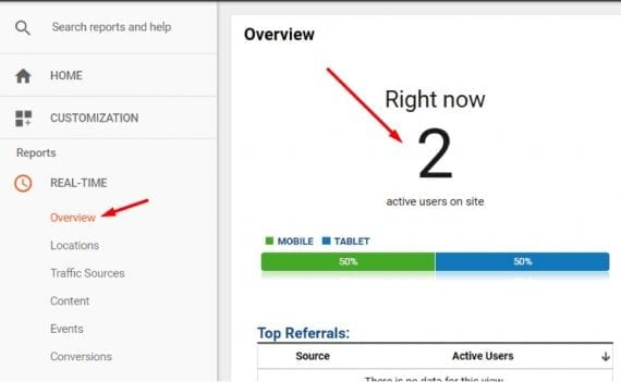 Use Google Analytics Real-Time to confirm GTM is functioning.