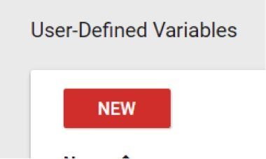 Add the new variable to GTM by clicking User Defined Variables > New.