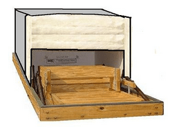 The Battic Door, an insulated attic-stair cover.
