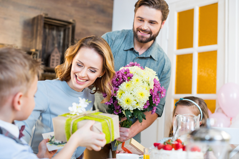 Gift baskets, gift sets, and special packaging are among the many promotions that appeal to Mother's Day shoppers.