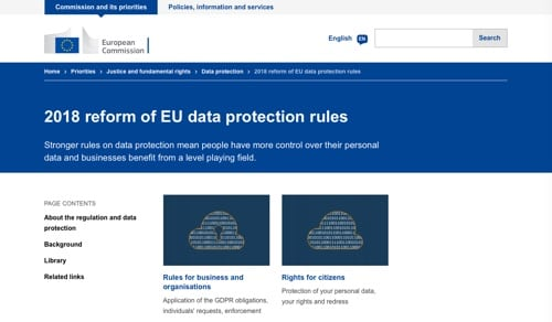 European Commission: 2018 Reform of EU Data Protection Rules.