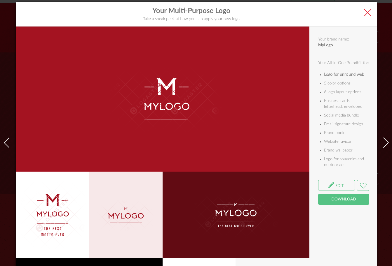 Design a logo for business cards, letterheads, websites, and more.