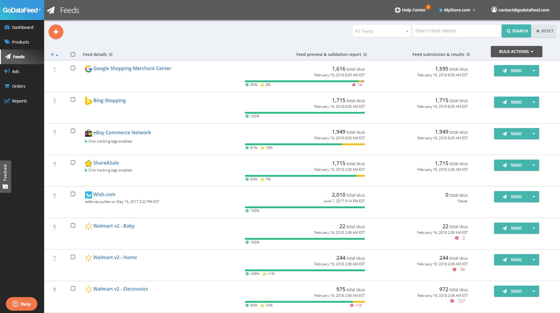 Screenshot of feed details on GoDataFeed feed management platform. <em>(Click to enlarge.)</em>