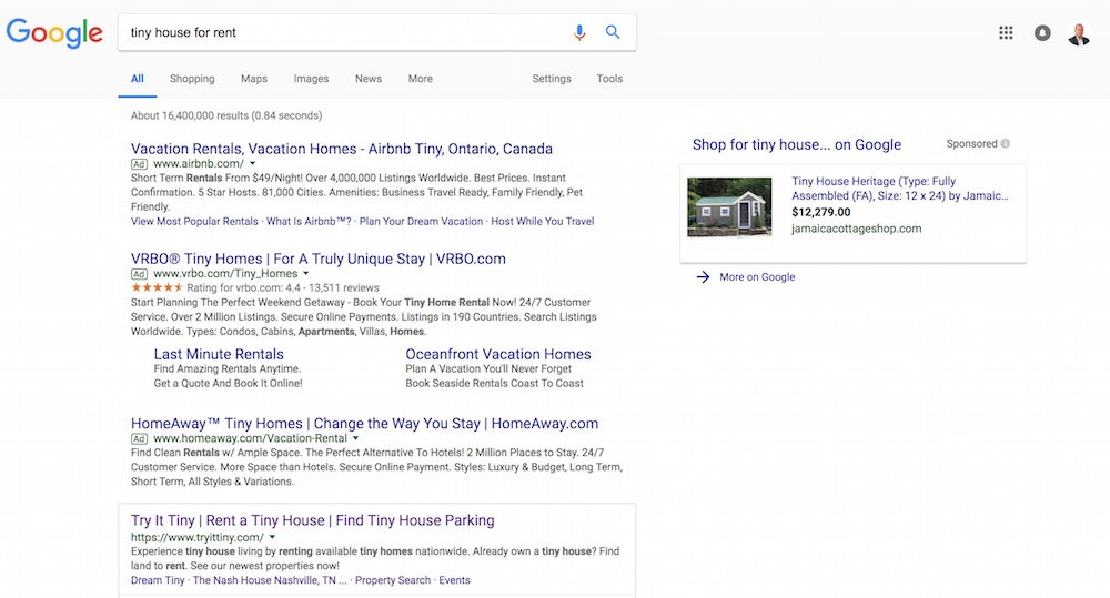Searching on Google shows that there are already sites offering tiny houses for rent.