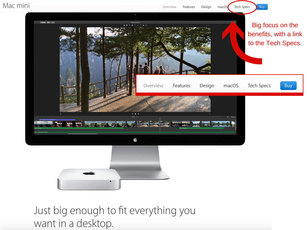Apple's Mac mini page