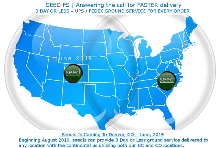 Pick, pack and ship services with three day ground service delivery in the in the continental U.S. <em>(Click to enlarge.)</em>