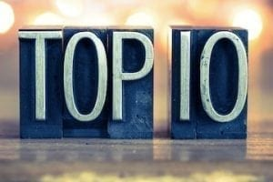 August 2018 Top 10 Our Most Popular Posts