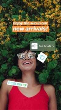 Instagram Stories Shoppable Stickers