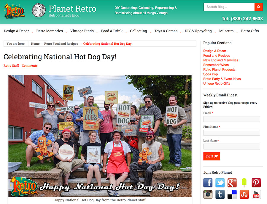 RetroPlanet.com on National Hot Dog Day