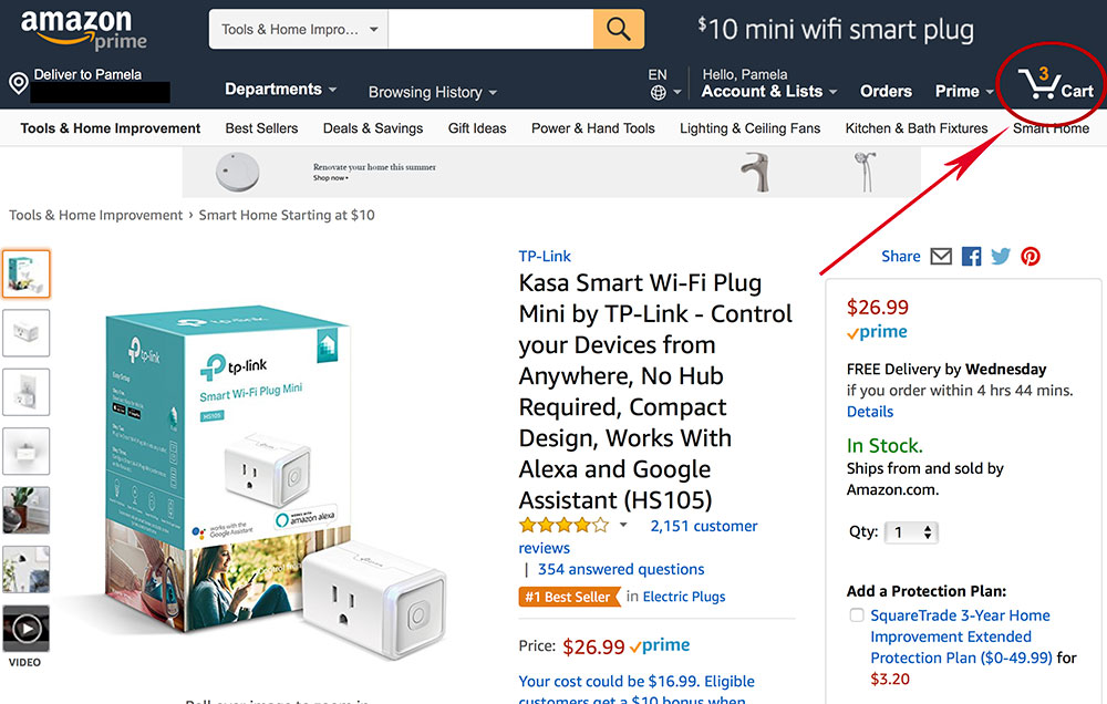 Amazon's Cart Icon - Persistent Shopping Cart