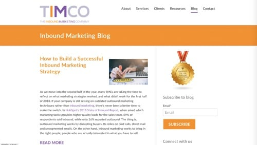 The Inbound Marketing Company's Inbound Marketing Blog