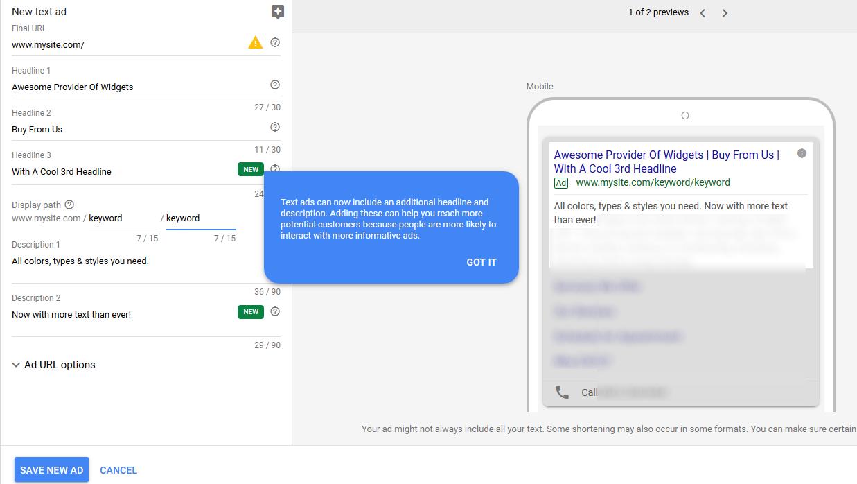 Google Ads Expands Headlines, Descriptions, Characters | Practical