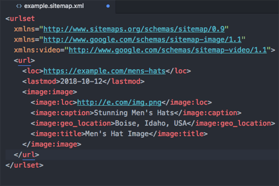 Google extends the XML sitemap schema to include tags for images and videos. These media tags can be added to any URL tag on an XML sitemap.