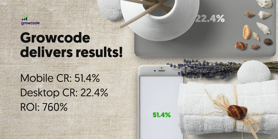 Ecommerce conversion rate growth for Bandi Cosmetics online store.