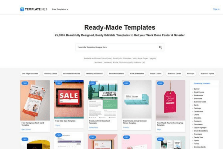 Premium website template designs are ready-made and free to download. <em>(Click to enlarge.)</em>