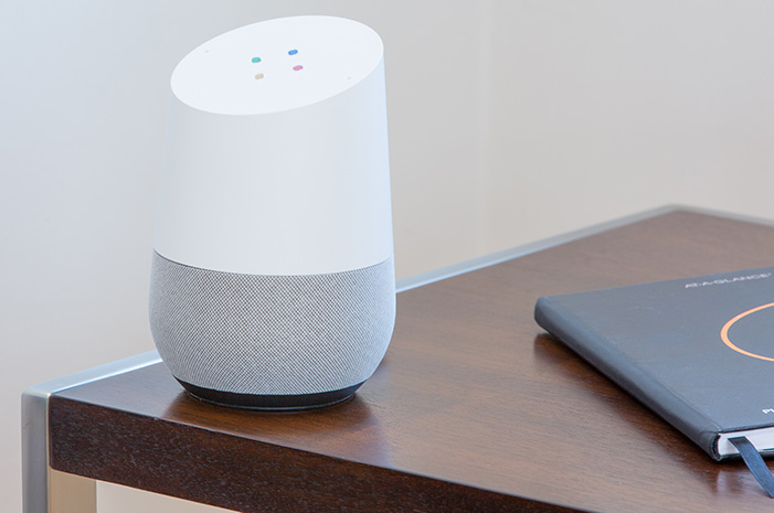 Smart speakers, smartphones, and smart devices on the Internet of Things should lead to a lot more voice search in 2019 and beyond. <em&gtPhoto: Thomas Kolnowski.</em>
