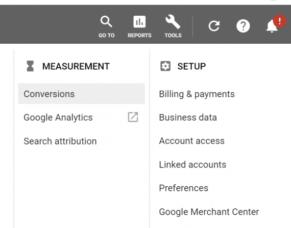 Conversion tracking in Google Ads applies to all ad types, not just Shopping.
