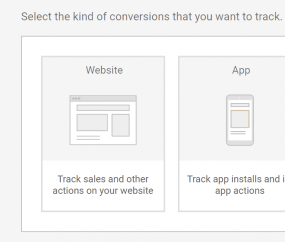 Tracking conversions from your website