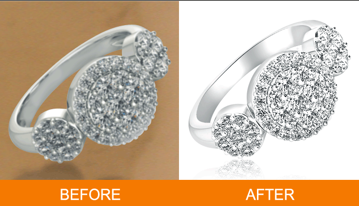 Jewelry retouching services.