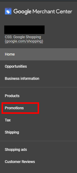 "Once approved, a new link called ""Promotions"" will appear in your Google Merchant Center dashboard."