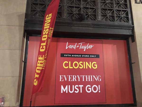 Department store Lord &amp; Taylor has closed its flagship Fifth Avenue store in New York. Other retailers have left Midtown Manhattan or are contemplating it.<em> Image: Andria Cheng.</em>
