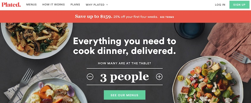 Ecommerce companies that sell products on subscription and then automatically ship them are often high successful and highly valued. Plated, an auto-ship meal delivery service, was purchased by Albertson's for $200 million.
