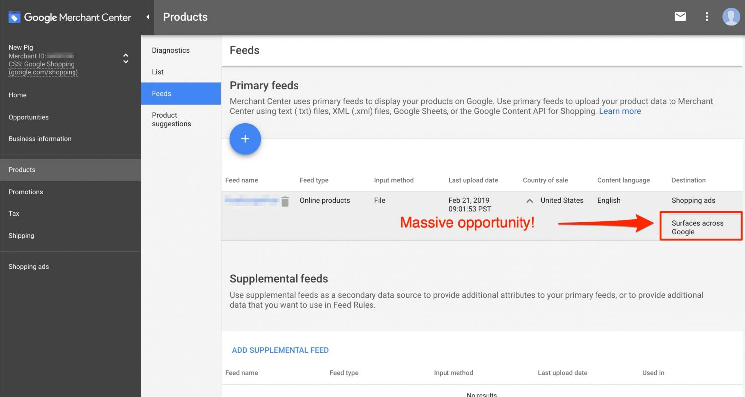 Merchants can now use product data feeds in Google Merchant Center to enhance organic search results. <em>Click image to enlarge.</em>