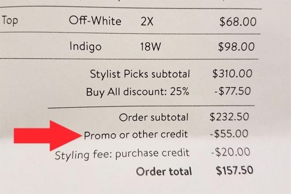 Stitch Fix gives its customers promotional credits when their friends subscribe.