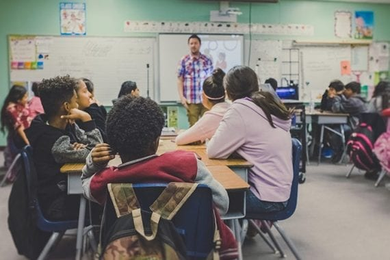 Teachers have a significant impact on their students. Stories about inspiring teachers should resonate with many customers. <em>Photo: NeONBRAND.</em>