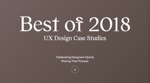 Best of 2018 UX Design Case Studies