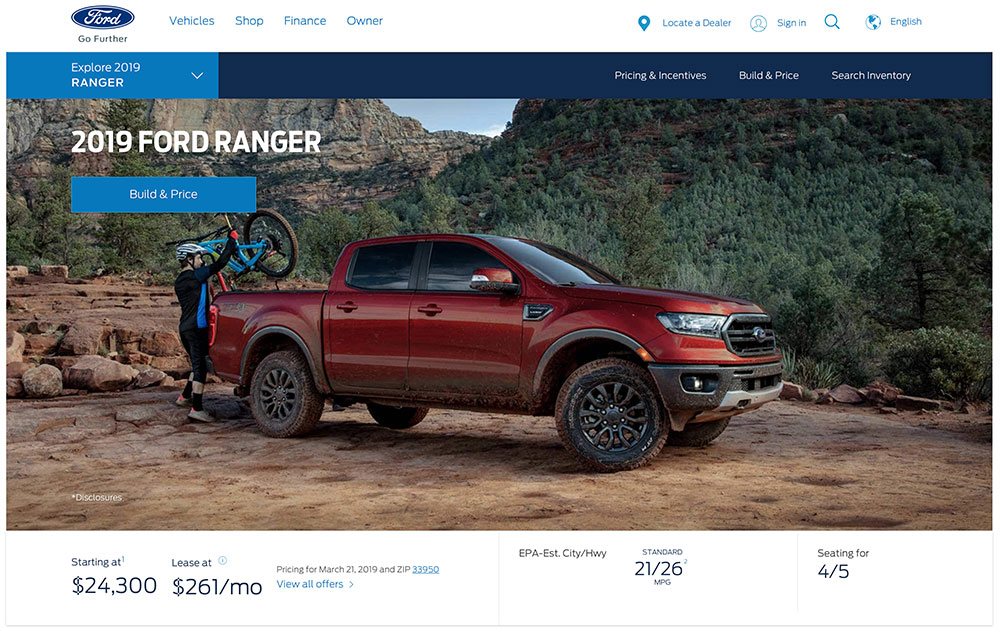 Ford Ranger is hyped as a tough vehicle for enthusiasts.