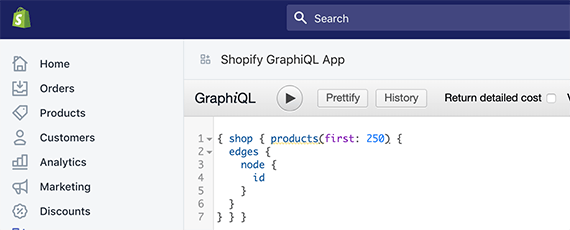 GraphQL is an example of a technology that makes moving data between systems relatively easy. This is an example from Shopify.