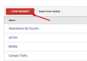 "Click ""New Segment"" to create an advanced segment."