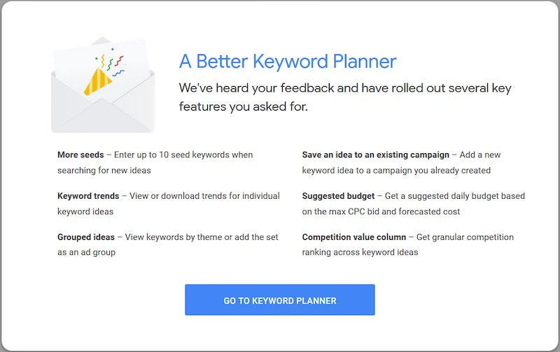 Google Ads has updated its popular Keyword Planner, focusing on six areas.